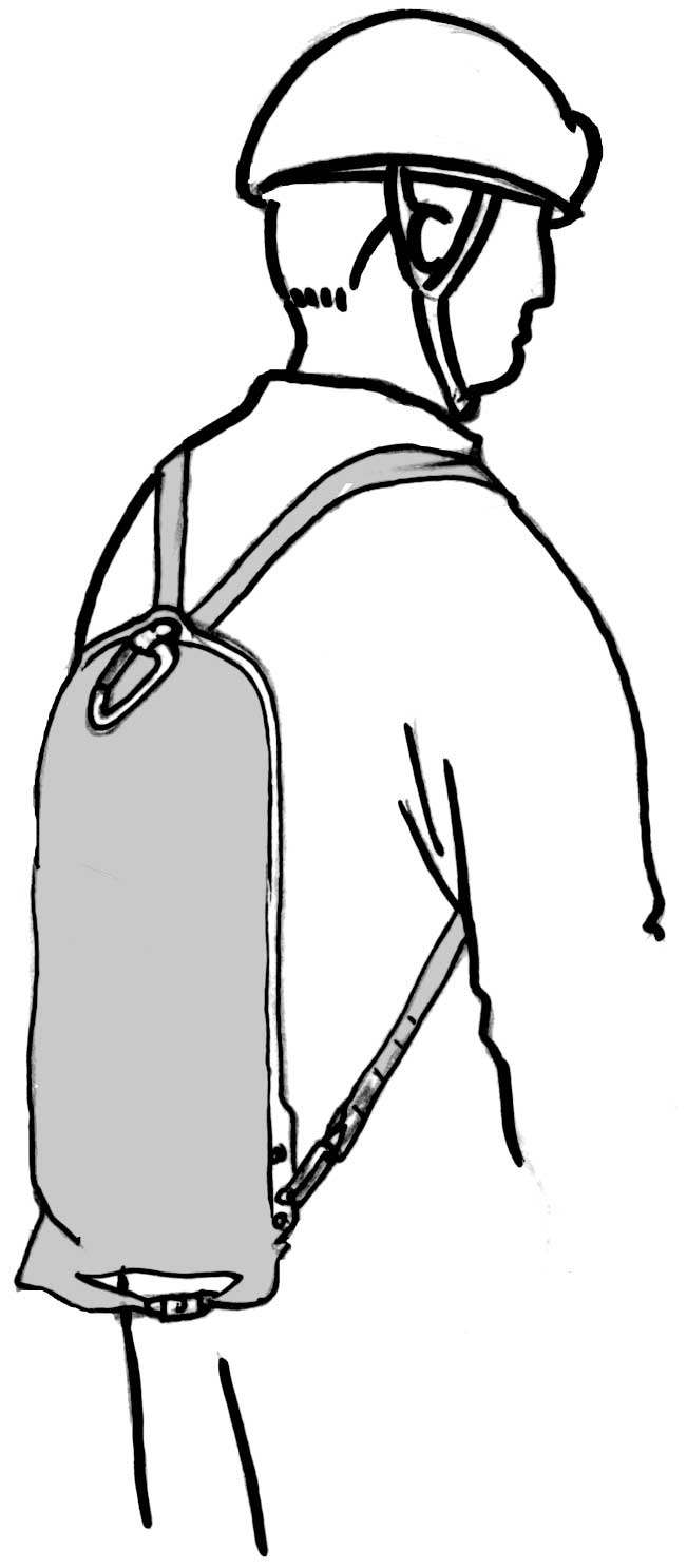 pack drawing back view