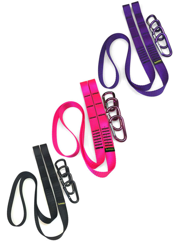 Colored Quick Straps – Pink/Purple/Black