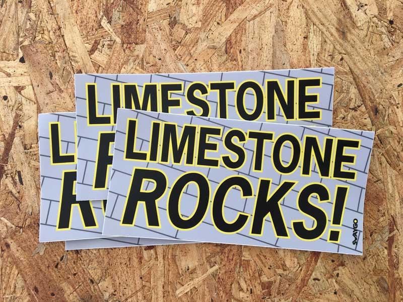 Swaygo limestone sticker
